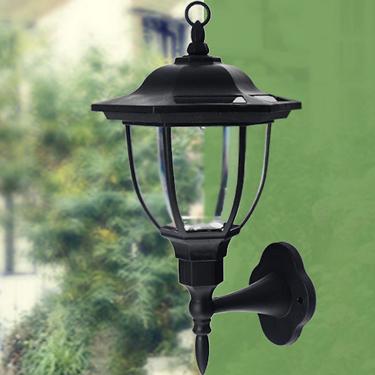Saulės energija dekoratyvinė sieninė lempa