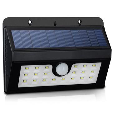 Saulės energijos judesio jutiklio sieninis šviestuvas