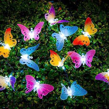 Saulės energija drugelis styginių šviesos