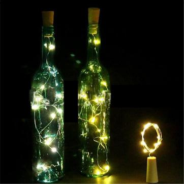 butelis kamštienos Styginių šviesa